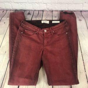 Jessica Simpson Kiss Me Super Skinny Red Jeans
